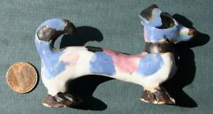 Cambridge City Indiana Overbeck Sisters Handmade Pottery Dachshund Dog figure #2