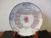1908 Souvenir Advertising Plate Compliments Of O.O. Ettline York Pennsylvania