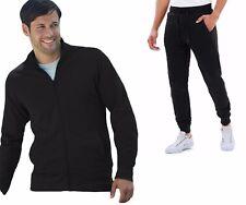 Tuta Uomo Maglia Giacca con Zip e Tasche + Pantalone Felpati sport Fitness T05