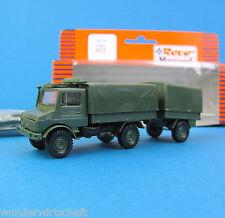 Roco Minitanks H0 452 UNIMOG U 1300 L 2t mit ANHÄNGER Bundeswehr Neu OVP HO 1:87