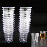 60 Shot Glasses Clear Hard Plastic 1 Oz Mini Wine Glass Party Cups Catering Bar
