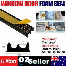 Soundproofing Door Window Rubber Seal Strip E Type Anti-Collision Adhesive 3.5M