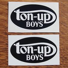 Motorcycle Biker Helmet Tank Rockers Cafe Racer Ton Up Boys Stickers TON UP BOYS