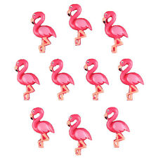 Bulk 10pcs Cute Hot Pink Flamingo Resin Flatbacks Girl Hair Bow Center Crafts