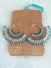 "Shiraleah ""Zelda"" Turquoise, Multi-Color Chandelier EARRINGS Gypsy Boho Chic"