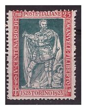 REGNO 1928 - EMANUELE FILIBERTO Cent 25  Dent 13 3/4   Nuovo **