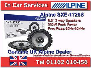 "Alpine SXE-1725S 6-1/2""(16cm DIN) Custom Fit Coaxial 2-Way Car Speakers 220WPAIR"