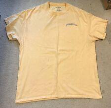 Margaritaville T Shirt XL Extra Large Yellow Graphic Tee Short Sleeve Latitudes