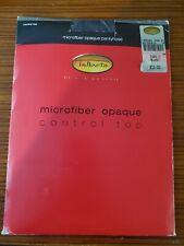 TALBOTS Pantyhose Hosiery Microfiber Opaque Control Top Black Size C