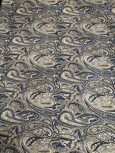 Ralph Lauren Blue Paisley Full Flat Sheet And 2 Standard Pillowcases
