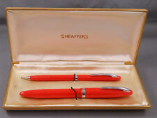 Sheaffer Cadet  Fiesta Red Touchdown Fill Set in box- new old stock