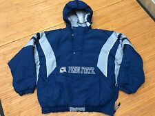XL Vtg 90s NCAA Penn State Nittany Lions Starter Quilted Pullover Hooded Jacket
