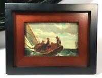 Breezing Up by Winslow Homer Painting Sailing Art Print Framed Ocean Boats