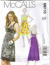 Sleeveless Scoop Neck Dress Gathered Empire Waist Tie Sewing Pattern 4 6 8 10 12