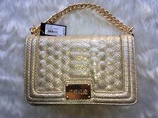 bebe Bag Gillian Crossbody Gold Chain Purse MSRP $98.00 RGT 🌹