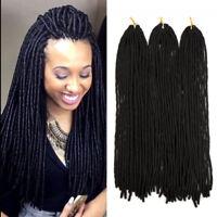 "SOFT FAUX LOC 20""Synthetic Crochet Braid Dread Locks Braiding Hair Extensions Lk"