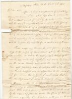 1828 Tafton Pennsylvania SFL Letter to Ingoldsby Crawford of Union Connecticut