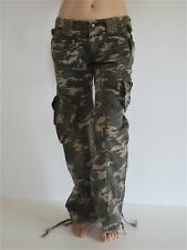 Green Camo Women's Long Cargo Pants S M L