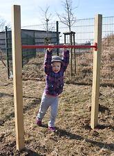 Turnreck Einzel Reck Turnstange 125cm Reckstange für Garten Holz Metallreck komp