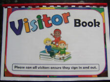 visitor log book childcare setting perfect for childminder nursery playgroup etc