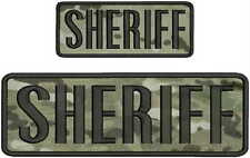 """""""sheriff """" embroidery patch 3x9 and 2x5 inches hook multicam"""