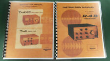 """Drake T-4XB & R-4B Instruction Manuals: w/11""""x17"""" Schematics & Protective Covers"""