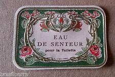 3 ETIQUETTES  PARFUM : Eau de Senteur pour la toilette Vers 1900-10