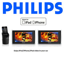 Philips PV7002i TwinPlay 7-Inch Dual Screen Car Video Viewer 4 iPh/iPod/iPad