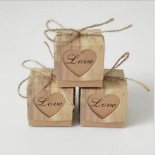 Small Candy Paper Box Cookie Gift Boxes Hollow Heart Party Wedding Favor FA