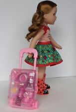 "Pink Suitcase PLUS! for 14"" Wellie Wishers Doll Accessory Widest Selection!"