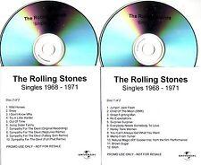 """Rolling STONES """"Singles 1968 - 1971"""" acetati PROMO 2 CD Set RARE"""