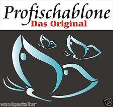 Wandschablone, Schablone, Wandtattoo, Malerschablonen,  3 Schmetterlinge XXL