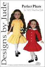 "Pleated Dress Doll Clothes Sewing Pattern 14.5"" Flexi Pose Agnes, Tonner"