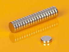 20 starke Neodym Magnete 4 x 1 mm runde Scheiben N52 4x1mm