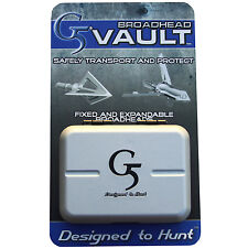 G5 Broadhead Vault for Expandable and Fixed blades #00944 Holds 5