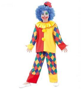 Clown Chico Kinderkostüm Kostüm Kinder Verkleidung bunt Faching Karneval Neu