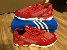 ADIDAS Tubular Runner Weave B25597 SCARLET RED WHITE NEW Men's Size 10.5
