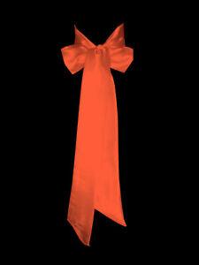 ORANGE Satin Wedding Fancy Dress Party Ribbon Sash Tie Belt Band Bow