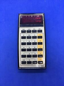 Vintage Texas Instruments TI-1250 Electronic Calculator Red LED Display 630-7
