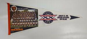 1985 Chicago Bears Super Bowl XX Champs PHOTO pennant Original.