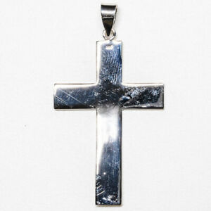 Silver Cross Pendant .925 Christian Religion Christ feeanddave.