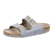 Birkenstock Arizona Women's Washed Metallic Blue Leather & Rubber Sandal US 10 N