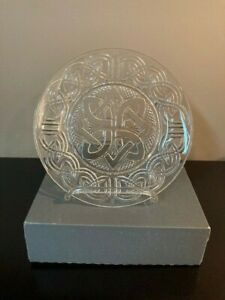 Waterford Fionn's Knot Crystal Salad Plate.  New in Box.