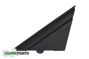12-19 FIAT 500 LEFT DOOR MIRROR FLAG COVER MOLDING MATTE OEM FIAT 1SJ85KX7AA