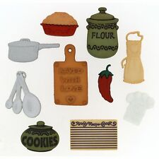 Jesse James Buttons ~ Dress It Up ~ IN THE KITCHEN 338 - measuring spoons ~ pie