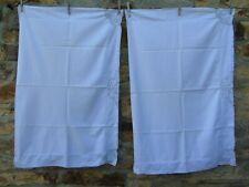 French 2 antique / vintage white cotton linen  pillow cases