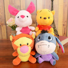 4 WINNIE THE POOH & FRIENDS PIGLET TIGGER SOFT BEAR PLUSH DOLL STUFFED KIDS TOY