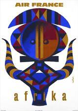 Air France   Afrika   Vintage Travel Poster   A1, A2, A3