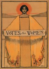 "Vintage Suffragette Propaganda ""VOTES FOR WOMEN."" 250gsm A3 Poster"