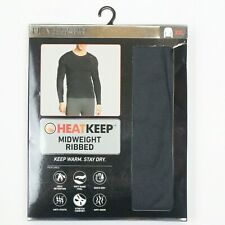 HeatKeep Midweight Ribbed Men's Long Sleeve Crew Neck (TMF99101HK) Gray - XXL